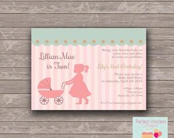 Baby Doll Brunch Birthday Party Invite