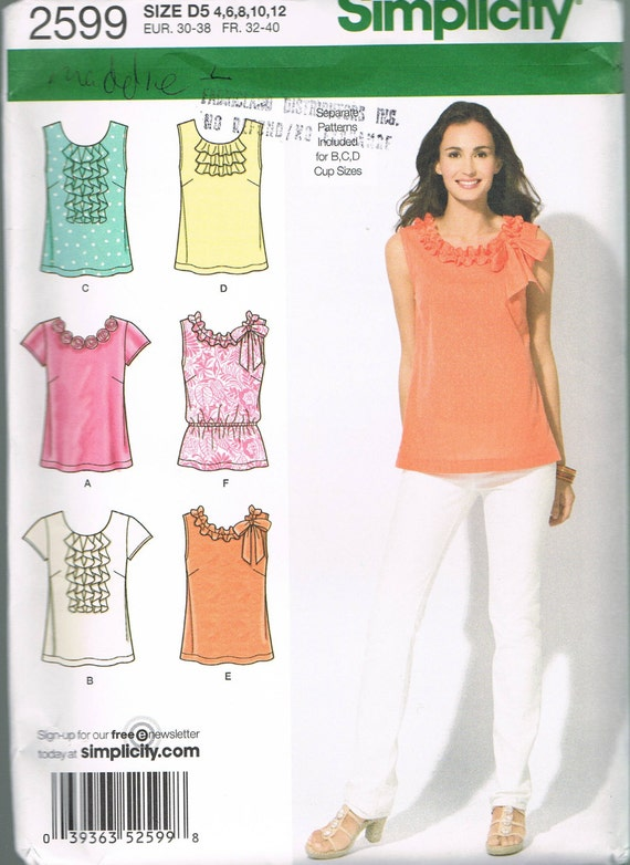 Size 4-12 Misses Top Pattern Sleeveless Scoop Neck Tunic Top