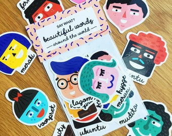Say What? Beautiful Words Around The World Stickers