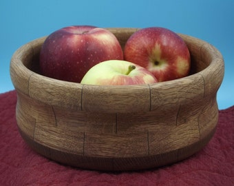 Inventory Reduction Sale - Hand Turned Segmented Oak Wooden Bowl