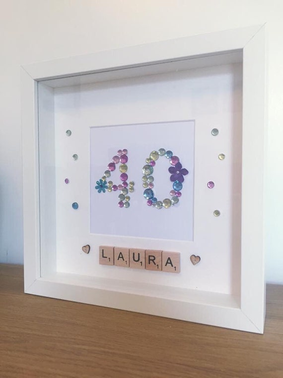 Items similar to Personalised Birthday box frame, 16th Birthday ...