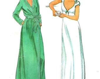 Butterick 6370 JOHN KLOSS Nightgown & Robe Size 10