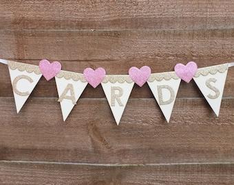 Wedding banner for cards, wedding banner, cards wedding bunting, wedding cards, banner for wedding cards, Vintage Wedding Bunting, Vintage B