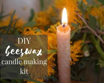 DIY beeswax candle making kit - Waldorf Charlotte Mason homeschooling gift handicraft