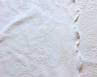 Waverly Garden Room Matelassé Quilt / Coverlet / Floral Design / White /  Beautiful
