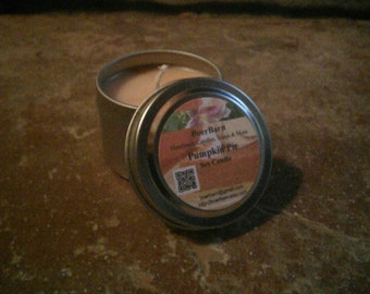 Pumpkin Pie Scented Soy Candle Tins - Choose from 2, 4, 6 or 8 oz