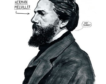 Herman Melville Poster Print - Great Writer Literary Print