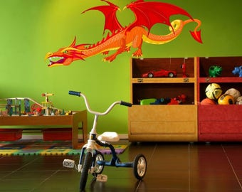 Dragon Monster full color Wall Decal Sticker Childrens Kids Room  137