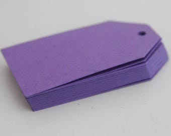 Purple Tags, Party Favor Gift Tags, Scrapbooking DIY Crafts Lilac Party Decor, Product Labels Thank You Gift Supplies