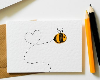 Boy and girl twins greeting card handmade new born card new note cards pack of 6 bee notecards greeting card 6 pack thank you m4hsunfo