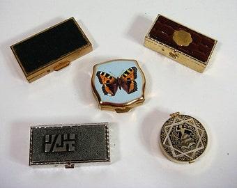5 Pill Boxes Pill Box Lot