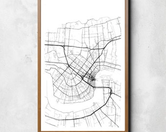 Map of New Orleans | New Orleans | New Orleans Art | New Orleans Map | New Orleans Print | New Orleans Decor | New Orleans Gift