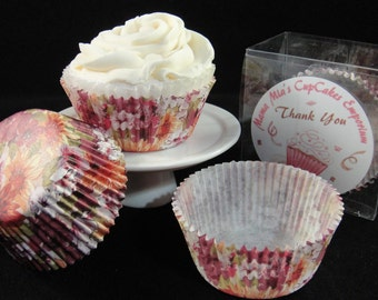 Flower Print Cupcake Liners