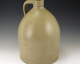 19th Century Salt Glazed 1.5 Gallon Jug SHIPPING INCLUDED