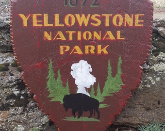 Yellowstone National Park Arrowhead Shield