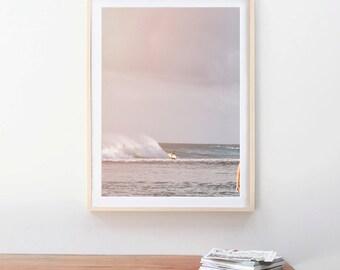 Hawaii Surf Decor Beach Photography, Ocean Sea Summer, North Shore, Seashore Horizon, Surf Decor, Waves Crashing, Ocean Art, Seascape Art