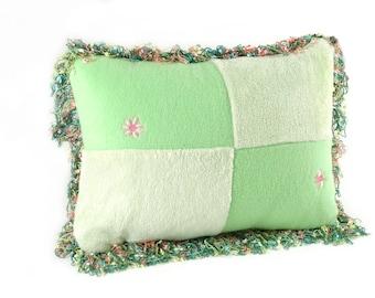 Lime Green Unbelievably Soft Fleece Rectangle Pillow
