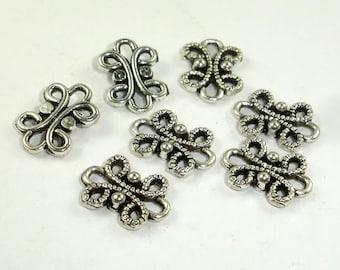 Metal Links, Connector Links, Zinc Alloy, Antique Silver Tone, 9x12xmm, 30 pcs (006864002)
