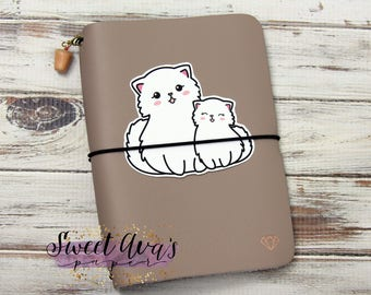 Mommy and Me Die Cuts - Kitten Planner Die Cut - Cat Planner Die Cut - Die Cuts - Planner Die Cuts - Traveler's Notebook Accessories