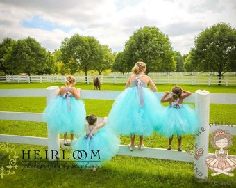 flower girl dress, flower girl dresses, blue flower girl dress, baby dress, child dress, birthday dress, aqua dress, blue dress