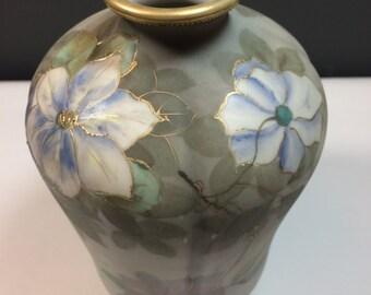 Nippon vase, hand painted.
