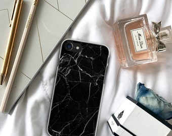 Black Marble iPhone X Case / Black Marble iPhone 7 Plus Case / Marble iPhone 7 Case / Marble iPhone X Case / Black Marble iPhone 8 Plus Case