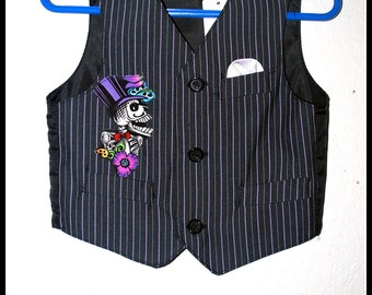 Boys Day of the Dead Vest size 18 months