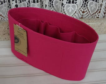 Fuchsia / Purse ORGANIZER Insert SHAPER / Flexible or Stiff Bottom / STURDY / 5 Sizes Available / Check out my shop for more colors & styles