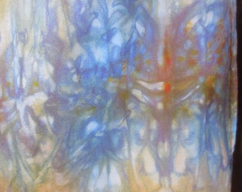 Depth Perception - Handpainted Silk Scarf