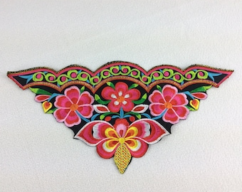 Triangle Chinese embroidery decals