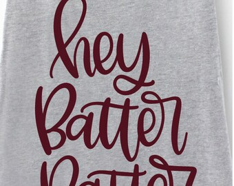 Hey Batter Batter - Hand Lettered SVG for cutting machines