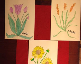 Hand painted greeting cards