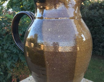 Stoneware Pitcher Beautiful Brown Earth Tones