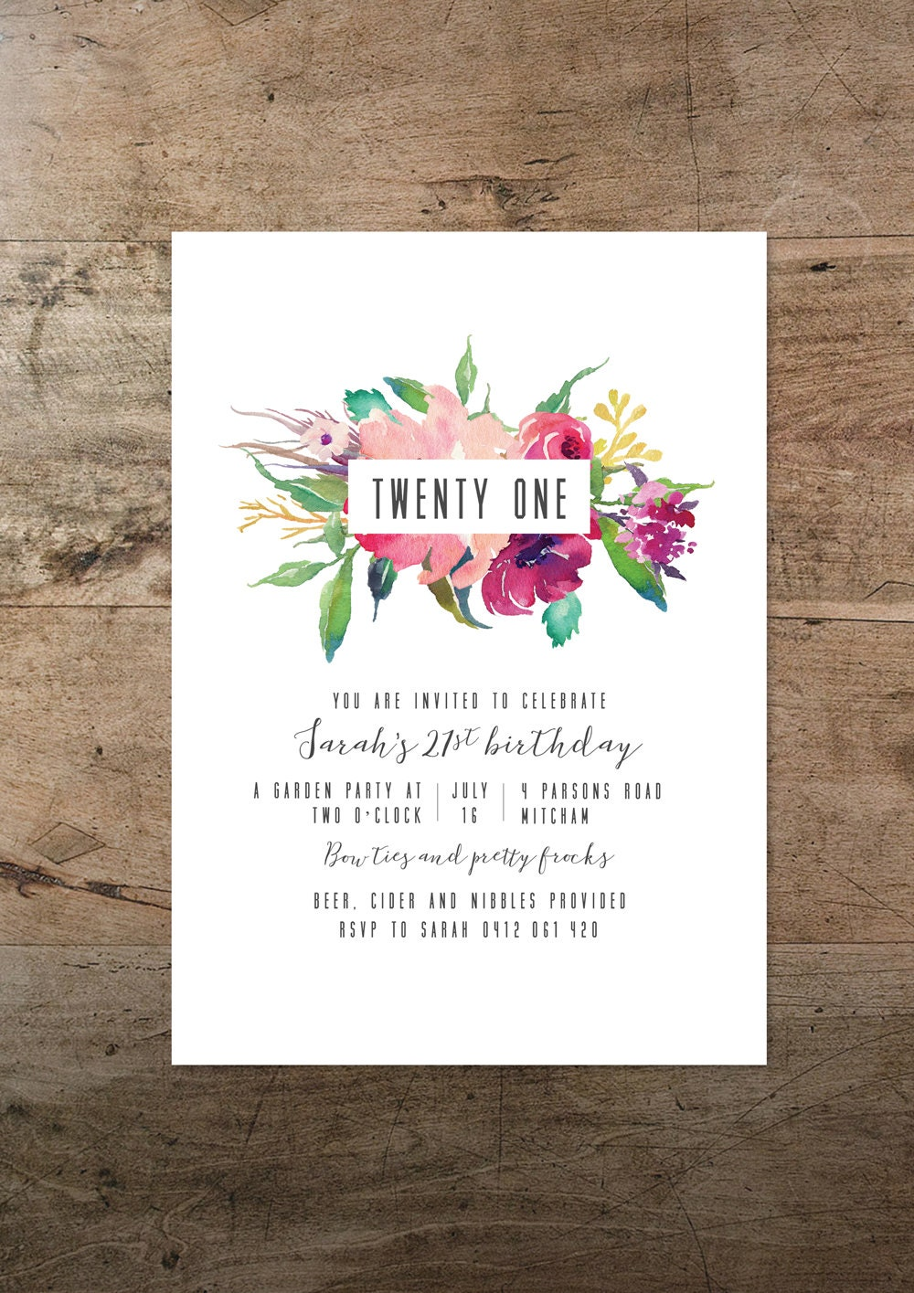 21st birthday invitation printable twenty first invitation