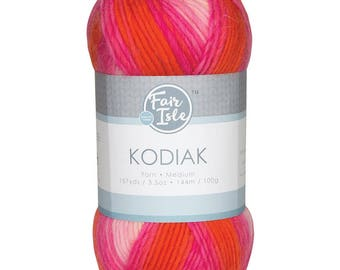 Salmon Fair Isle Kodiak Space Dye Yarn Wool (Pre-Order)