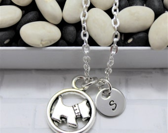 Scottie Dog Necklace - Dog Lover Necklace - Personalized - Animal Lover Gift - Scottie Dog Jewelry