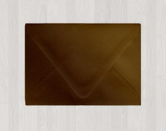 10 A2 Envelopes - Euro Flap - Brown - DIY Invitations and Response Cards - Envelopes for Weddings and Other Events