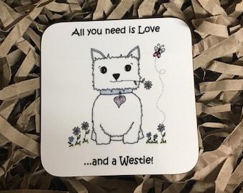Westie coaster
