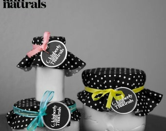 All natural body butter and Talc-free powder