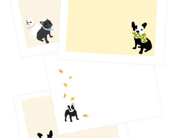 postcards french bulldog collection silly to sublime