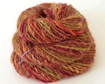 Handspun Yarn, Vegan Faux Angora Yarn - 1.65oz, 110yd, WPI 16,