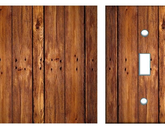 Rustic wood light switch plate cover // brown image 57 // SAME DAY SHIPPING**