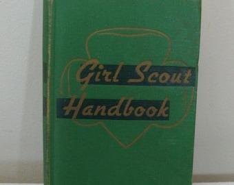 Vintage 1952 Girl Scout Handbook