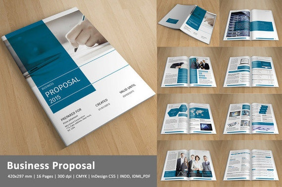 Items similar to Business Proposal Template | InDesign Template ...