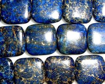 14mm Square Lapis Lazuli Bead Semiprecious Gemstone Bead String Beading 15''L Jewelry Supply Wholesale Beads