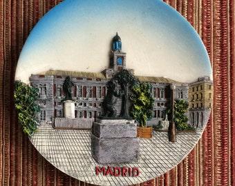 Madrid Spain,Spain Landmark,3D Relief Plate,3D Relief Art,Spain Collectible,Wall Plate,Spain Art Plate,Spain Souvenir,Madrid Art,Madrid Gift