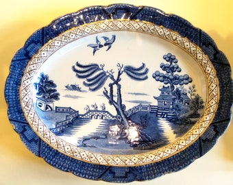 Gold Booths 'Real Old Willow' Serving Plate