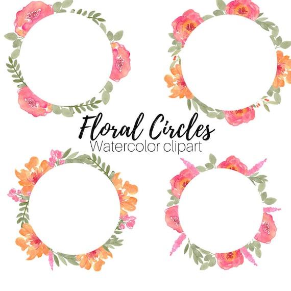 Flower Clip art Premade Logo Template Watercolor clip art