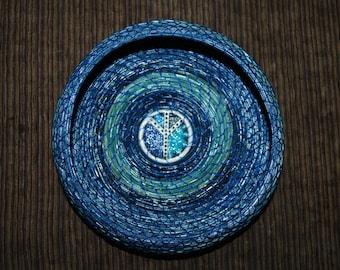 "Pine Needle Basket ""Peace Symbol"""