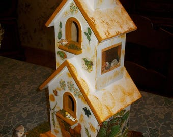 Birdhouse bird for home décor, Bird House